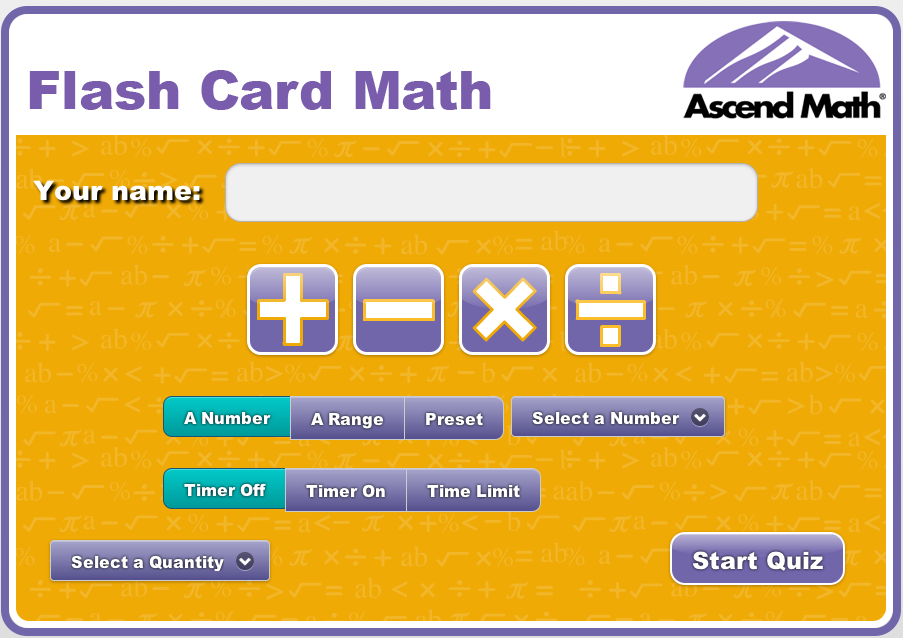 Use Flash Card Math Free! - Ascend Math