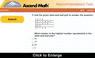 Ascend Math level recommendation test