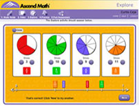 Examine Ascend Math's award-winning content in examples form 8 different levels.