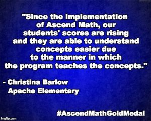 Apache Elementary School has been awarded an Ascend Math Gold Medal for 2018! #AscendMathGoldMedal