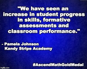 """We have seen an increase in student progress in skills, formative assessments and classroom performance."" - Pamela Johnson, Kandy Stripe Academy"