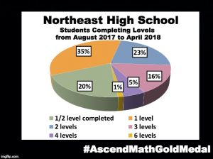 Northeast High School has been awarded an Ascend Math Gold Medal for 2018! #AscendMathGoldMedal