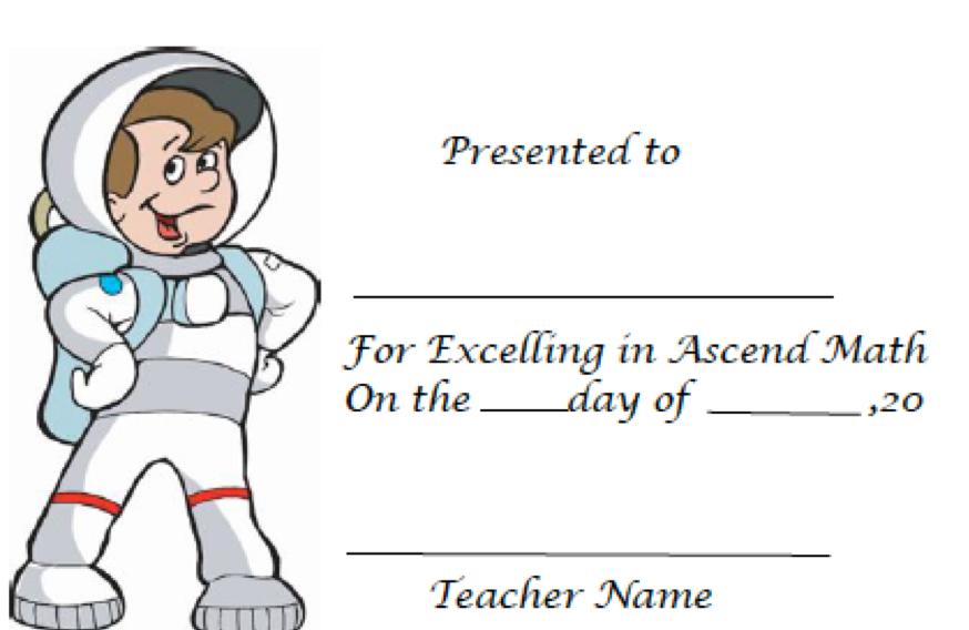 Astronaut Certificate