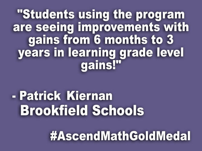 """Students using the program are seeing improvements with gains from 6 months to 3 years in learning grade level gains!"""