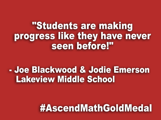 """Students are making progress like they have never seen before!"""