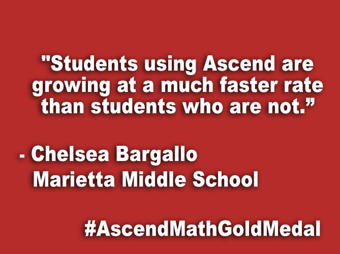 """Students using Ascend are growing at a much faster rate than students who are not."""