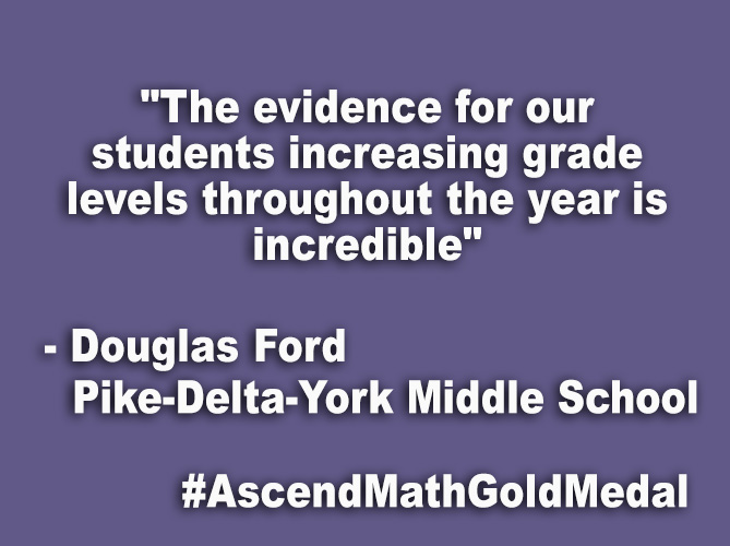 """The evidence for our students increasing grade levels throughout the year is incredible"""