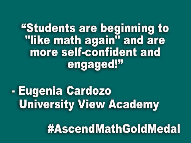 """Students are beginning to ""like math again"" are more self-confident and engaged!"""