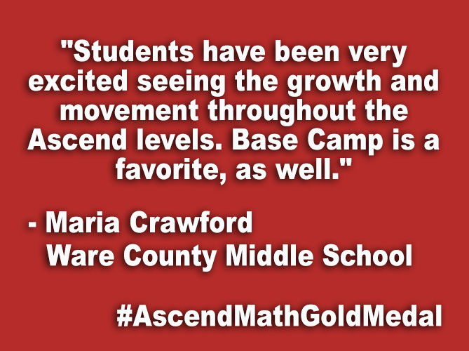 """Students have been very excited seeing the growth and movement throughout the Ascend levels. Base Camp is a favorite, as well."""