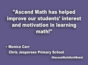 Chris Jespersen Primary School Ascend Math Gold Medal