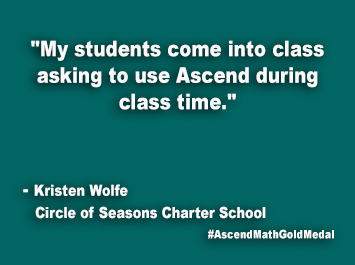 Circle of Seasons Charter School Ascend Math Gold Medal