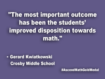 Crosby Middle School Ascend Math Gold Medal