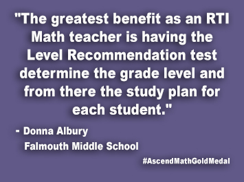 Falmouth Middle School Ascend Math Gold Medal
