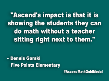 Five Points Elementary Ascend Math Gold Medal