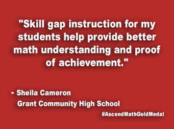 Grant Community High School Ascend Math Gold Medal