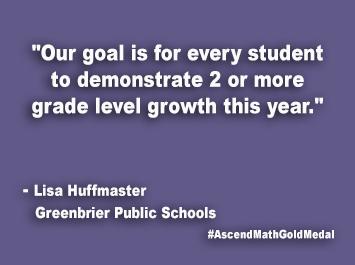 Greenbrier Public Schools Ascend Math Gold Medal