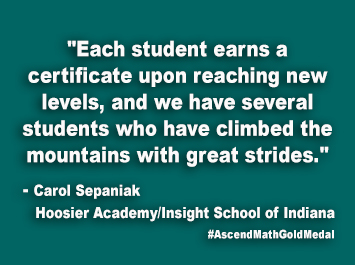 Hoosier Academy-Insight School of Indiana Ascend Math Gold Medal