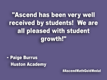 Huston Academy Ascend Math Gold Medal