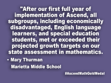 Marietta Middle School Ascend Math Gold Medal