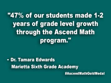 Marietta Sixth Grade Academy Ascend Math Gold Medal