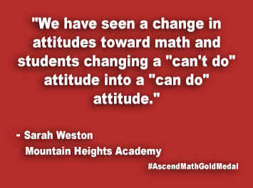 Mountain Heights Academy Ascend Math Gold Medal