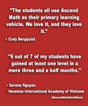 Newman International Academy of Vietnam Ascend Math Gold Medal
