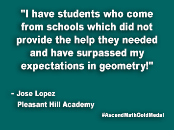 Pleasant Hill Academy Ascend Math Gold Medal