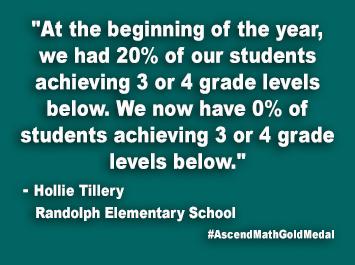 Randolph Elementary School Ascend Math Gold Medal