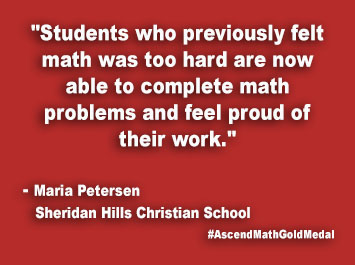 Sheridan Hills Christian School Ascend Math Gold Medal
