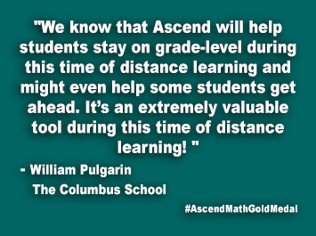 The Columbus School Ascend Math Gold Medal