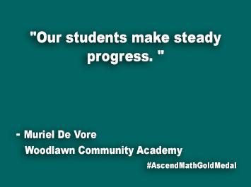 Woodlawn Community Academy Ascend Math Gold Medal