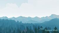 Ascend Math Virtual Background Mountains